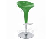 Set of 2 Alpha Contemporary Bombo Style Adjustable Barstool - Watermelon Green