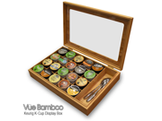 Keurig K-Cup Bamboo Coffee Capsule Organizer/Display Box - Holds 20 K-Cups & More