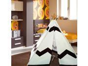Modern Home Children's Indoor/Outdoor Teepee Set with Travel Case - Navajo Brown