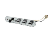 Fender Telecaster Loaded 3-Way Control Plate - Brent Mason Style - Chrome