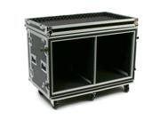 "OSP SC12U-20SXS 24 Space ATA Side by Side Amp Flight Rack Case 19"" Wide"