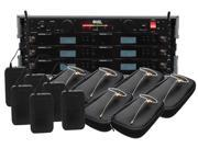 Shure BLX14R/HS-09 6 Pack Wireless EarSet Mic System with VRL Power Supply