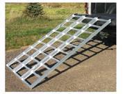 "Yutrax TX104 Aluminum 78"" Lightweight Heavy Duty Tri-Fold Truck Utility Ramp"