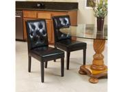 Christopher Knight Home Gentry 2-Piece Leather Dining Chairs (Black)