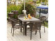 Christopher Knight Home River 5-Piece Outdoor PE Wicker Dining Set