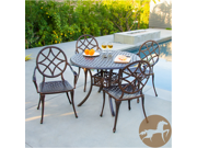 Christopher Knight Home Oviedo 5pc Cast Aluminum Copper Outdoor Dining Set