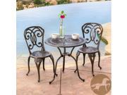 Christopher Knight Home Cornwall 3pc Cast Aluminum Outdoor Bistro Set