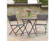 Christopher Knight Home El Paso Outdoor 3-piece Multibrown Folding Set