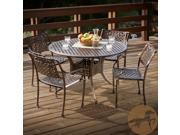 Christopher Knight Home Sebastian Cast Aluminum Copper Outdoor 5pc Dining Set