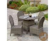 Christopher Knight Home Malachi Outdoor Black Wicker 5pc Dining Set