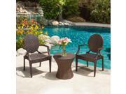 Christopher Knight Home Adriana PE Wicker Outdoor Chat Set of 3