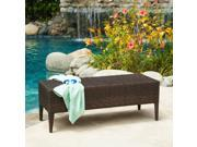 Christopher Knight Home PE Wicker Outdoor Bench