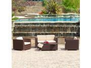 Christopher Knight Home Murano PE Wicker Outdoor 4-piece Sofa Set