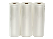 """Three VacMaster 11"""" X 50' Rolls of Bags for Foodsaver and other Vacuum Sealer Machines"""