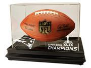 New England Patriots Super Bowl 49 Champions Boardroom Football Display, Black