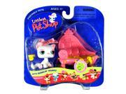 Littlest Pet Shop White Kitty with Pink Sofa Bed #148