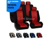 Red & Black Edgy Piping Yaris Seat Covers Full Set for Toyota Yaris