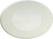 CEILING BAFFLE FOR 8- SPEAKERS ROUND STEEL GRILLE, OFF-WHITE