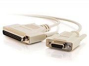 6' Db25M To Db9F Null Modem Cable              Beige