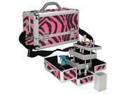 Pink Zebra Makeup Case Style No. TS-44PZ