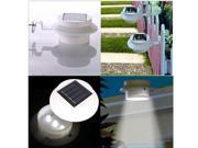 Outdoor Waterproof 3 LED Solar Power Garden Gutter Fence Wall Path Yard Sensor Lights - White
