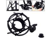 New Black Microphone Shock Mount Clip Holder For MXL Large Diameter Condenser Mic Microphone Stand