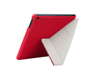 Luxury Slim PU Leather Stand Case Cover For New Apple iPad 5 iPad Air 2013-Red