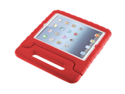 For  iPad 5/ iPad air Kids Safe Thick Foam Shock Proof Case Handle Cover- Red