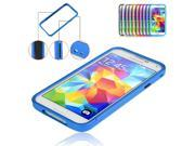 Deep Blue Luxury Protective Aluminum Alloy Metal Frame Bumper Case Cover for Samsung Galaxy S5 SV V i9600