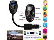Bluetooth Car Kit Handsfree FM Transmitter MP3 Player Support USB Disk & SD Card for Samsung Galaxy S5 S4 S3 Note 3 2 LG G2 Moto X HTC One M8 M7 Tablet PC - Noise Suppression/Echo Cancellation