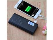 Black Portable 12000 mAh LCD USB Power Bank External Battery Charger Replacement Backup with Dual USB Ports for iPhone 6 Plus iPhone 6 5S 5C 5 4S iPad Air/Mini/4/3/2 iPod Touch Tablet MP3 MP4