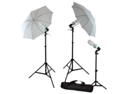 3 x Photography Video Photo Portrait Studio Umbrella Continuous Lighting Kit with 3 x Daylight Photo Bulb 6500K