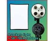 "Lusana Studio New 4 Sockets with 20""X28"" Softbox Photo Video Light LNG475"