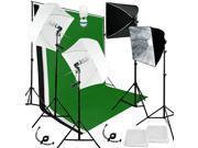 Lusana Studio Photo Backdrop Stand 3 Muslins Studio Lighting Softbox Kit LNG166