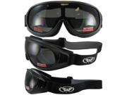 Tump One-Piece Smoke Lens Matte Black Riding Goggles
