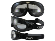 Tump One-Piece Clear Lens Matte Black Riding Goggles