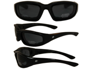 Birdz Oriole Motorcycle Glasses with Smoke Shatterproof Anti-Fog Polycarbonate Lenses and Wind Blocking Foam