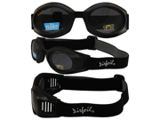 Airfoil Four Lens Kit Motorcycle Riding Goggles - Smoke, Gold Mirror, Blue and Clear