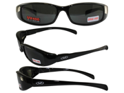 New Attitude Motorcycle Glasses with Super Dark Lenses and Black Frame with Flames