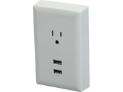 Rca Wp2uwr Wall Plate With 2 Usb (white)