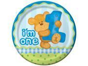 Bear'&#59;s 1st Birthday Boy Dinner Plates (8)