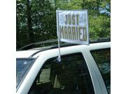 Just Married Car Flag - fabric, plastic