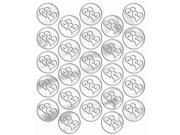 Metallic Silver Heart Sticker Seals (25 count) - paper