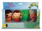 Puff, The Magic Dragon Plush Finger Puppet Set - Red/green