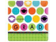 Colorful Commencement Graduation Square Banquet Dinner Plates - Paper