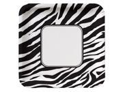 Animal Print Zebra Deep Dish Square Dinner Plates - paper