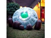 Inflatable Crashed Ufo - Black/green