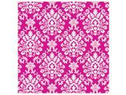 Bright Pink Brocade Jumbo Gift Wrap - Paper