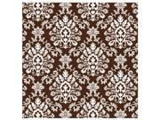 Chocolate Brown Brocade Jumbo Gift Wrap - Paper