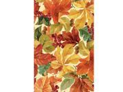 Elegant Leaves Plastic Tablecover - plastic